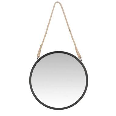 Spiegel Tess - zwart - 43 cm - Leen Bakker