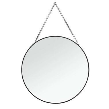 Spiegel Madrid - zwart - Ø29 cm - Leen Bakker