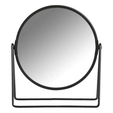 Spiegel Jessica - zwart - 20x18x8 cm - Leen Bakker