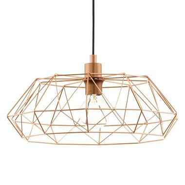 EGLO hanglamp Carlton 2 - koperkleur - Leen Bakker
