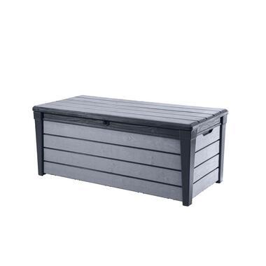 Keter opbergbox Brushwood 455L grijs 145x69,7x60,3 cm - Leen Bakker