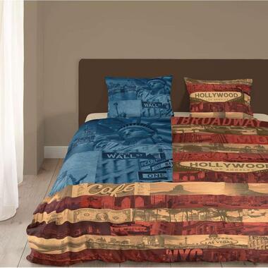Good Morning dekbedovertrek Amerika - multikleur - 240x200/220 cm