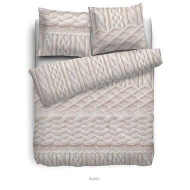 Heckett & Lane dekbedovertrek Robijn - off-white - 260x220 cm - Leen Bakker
