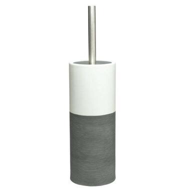 Sealskin toiletborstelgarnituur Doppio - grijs - 38,3x10,1x10,1 cm - Leen Bakker