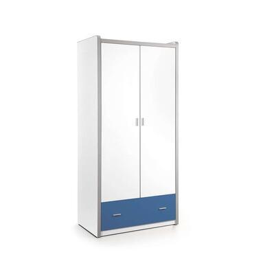 Vipack 2-deurs kledingkast Bonny - blauw - 202x97x60 cm