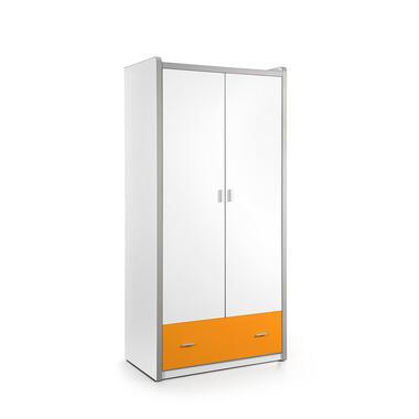 Vipack 2-deurs kledingkast Bonny - oranje - 202x97x60 cm