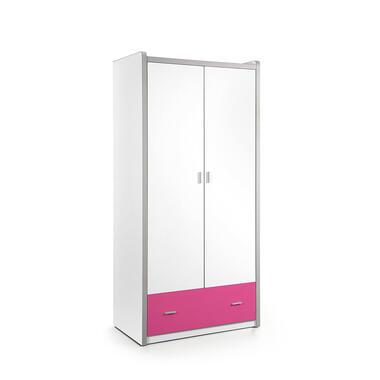Vipack 2-deurs kledingkast Bonny - fuchsia - 202x97x60 cm