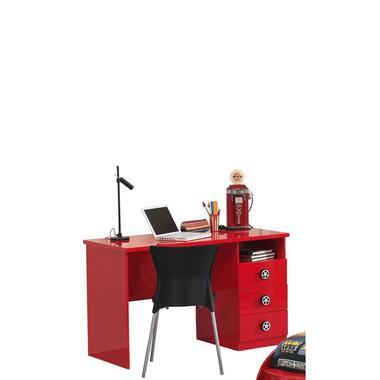 Vipack kinderbureau Monza - rood - 60x120x74 cm - Leen Bakker