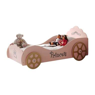 Vipack autobed Princess Pinky - roze - 90,4x106,8x210 cm - Leen Bakker