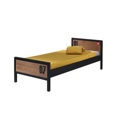 Vipack bed Alex - bruin/zwart - 75x96,5x209 cm - Leen Bakker