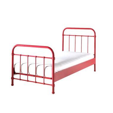 Vipack bed New York - rood - 90x200 cm - Leen Bakker