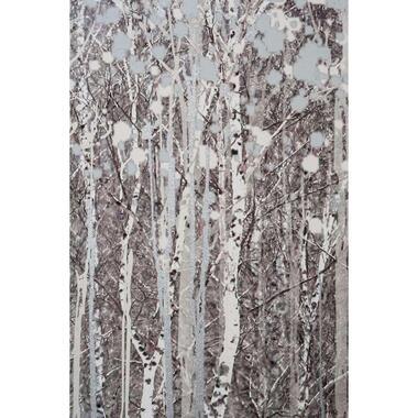 Art for the home canvas Aquarel Bossen - grijs - 100x70 cm