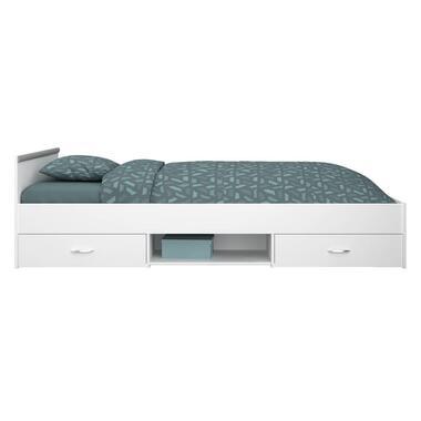 Bed Montana incl. lades - wit - 90x200 cm - Leen Bakker