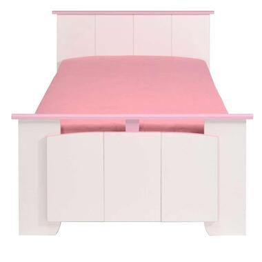 Kinderbed Kiki - wit/roze - 90x200 cm - Leen Bakker