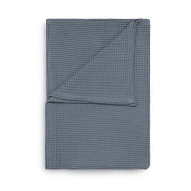 Heckett & Lane wafelplaid - 180x260 cm - blauw - Leen Bakker