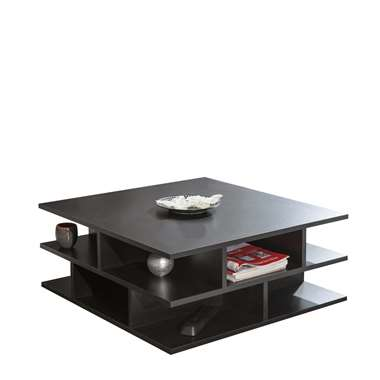 Symbiosis salontafel Ligarda - zwart - 28,9x70x70 cm - Leen Bakker