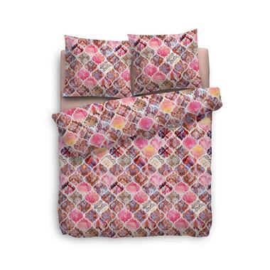 Heckett and Lane dekbedovertrek Rachela roze 240x220 cm Leen Bakker