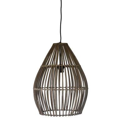 HSM Collection hanglamp - rotan - naturel - 40x51 cm - Leen Bakker