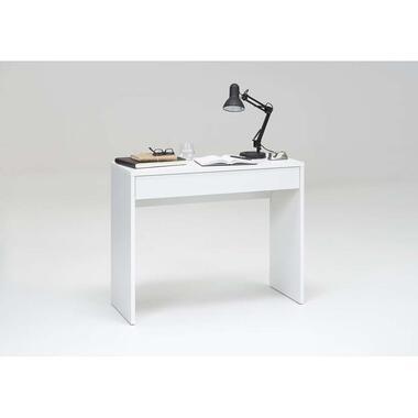 Bureau Checker - wit - 40x100x80 cm - Leen Bakker