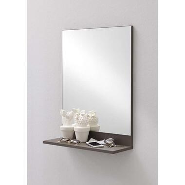 Gangspiegel Alan 7 - antraciet - 67x50x18,5 cm - Leen Bakker