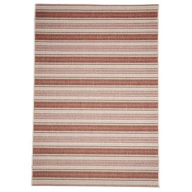 Floorita binnen/buitenvloerkleed Riga - roest/rood - 160x230 cm - Leen Bakker