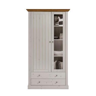 Buffetkast Monaco 2 deuren/2 lades - Provence wit - 190,1x103,9x42 cm - Leen Bakker