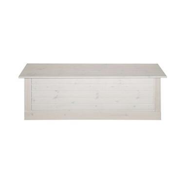 Opbergbank Monaco - white wash - 46x136x42 cm - Leen Bakker