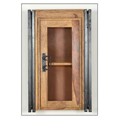 Badkamer bovenkast Quin - bruin - 72x44x21 cm