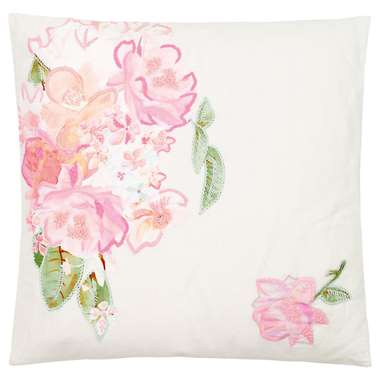 Image of Ariadne at Home sierkussen Hidden Garden - wit/roze - 50x50 cm