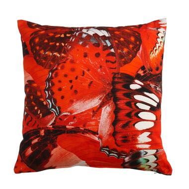 Kaat Amsterdam sierkussen Wings rood 45x45 cm Leen Bakker