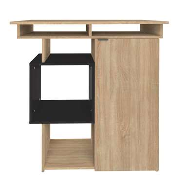 Symbiosis bartafel Kube - eikenkleur/zwart - 101,1x89,5x67 cm - Leen Bakker