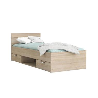Image of Demeyere bed Michigan - eikenkleur - 90x200 cm