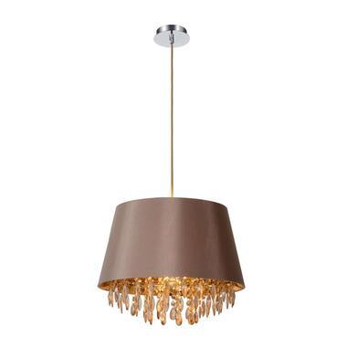 Lucide hanglamp Dolti - taupe - Ø45 cm - Leen Bakker
