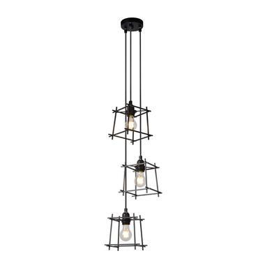 Lucide hanglamp Edgar - zwart - Ø28 cm - Leen Bakker
