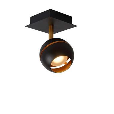Lucide plafondspot Binari 1 LED - zwart - Leen Bakker