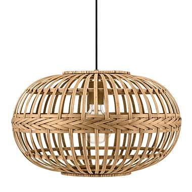 EGLO hanglamp Amsfield - bamboe - Ø38 cm - Leen Bakker