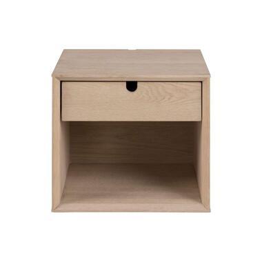 Nachtkastje Edsta - 1 lade - bruin - 33x32x37 cm - Leen Bakker