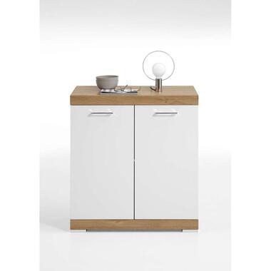 Commode Bristol - oud eikenkleur/wit edelglans - 80x90x50 cm