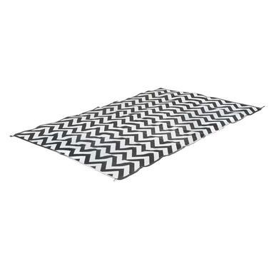 Bo-Leisure Chill mat Lounge binnen/buiten vloerkleed Wave - zwart/wit - 270x200 cm - Leen Bakker