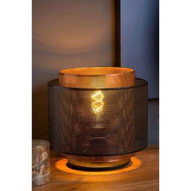 Lucide tafellamp Orrin - zwart - Ø25 cm - Leen Bakker