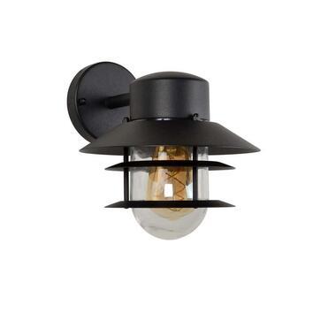 Lucide wandlamp buiten ZICO IP44 - zwart - Ø21,8 cm - Leen Bakker