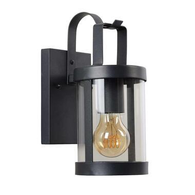 Lucide wandlamp buiten LINDELO IP23 - zwart - 11,5x16x26,3 cm - Leen Bakker