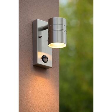 Lucide LED wandspot buiten ARNE IP44 downlight - mat chroom - 6,3x12x16,3 cm - Leen Bakker