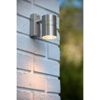 Lucide LED wandspot buiten ARNE IP44 downlight - mat chroom - 6,3x12x11,5 cm - Leen Bakker