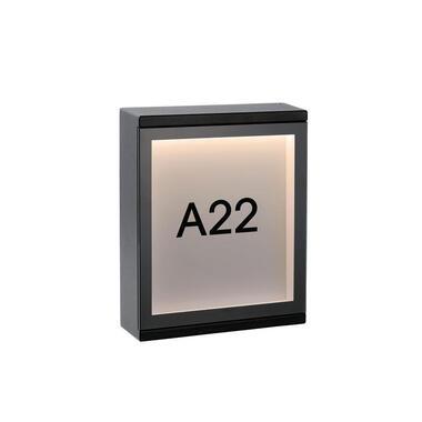 Lucide wandlamp buiten CADRA IP54 - zwart - 16x5x20 cm - Leen Bakker