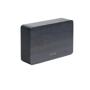 Karlsson alarmklok Square black - wit LED