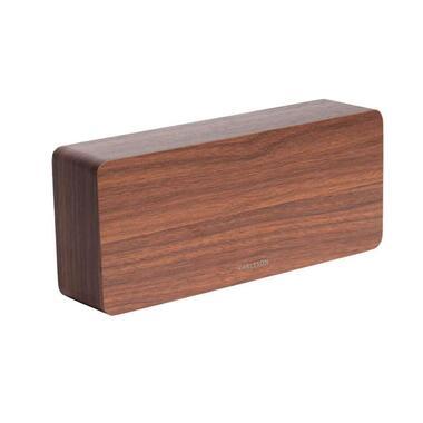 Karlsson alarmklok Tube dark wood - wit LED