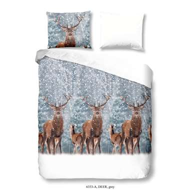 Dekbedovertrek Deer - multikleur - 200x200/220 cm