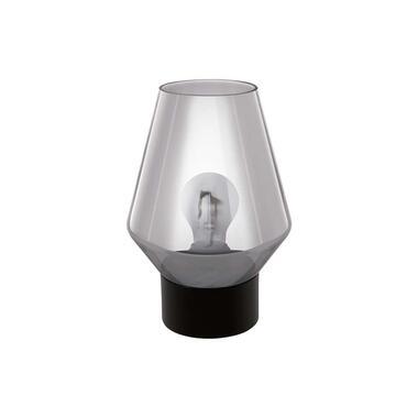 EGLO tafellamp Verelli - zwart/rookglas - Leen Bakker