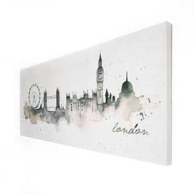 Art For The Home canvas schilderij Londen Waterverf - 120x50 cm